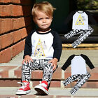 2Pcs Cotton Baby Boys Clothing Set Long Sleeve T-shirt + Trousers Cute Outfits