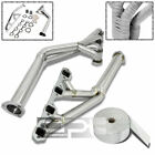 64-70 PONY MUSTANG V8 STAINLESS TRI-Y HEADER+ALUMINUM EXHAUST MANIFOLD HEAT WRAP