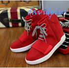 Mens Fashion England Ankle sport high Top Boots Lace up Flats faux Suede shoes