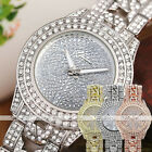 Luxury Ladies Women Glitter Rhinestones Analog Alloy Band Quartz Wrist Watch