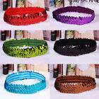 Womens Lady Fashion Twinkling Sequins Elasticity Hair Band Headwear Jewelry