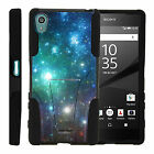 For Sony Xperia Z5 Durable Dual Layer Protective Armor Case Built-in Kickstand