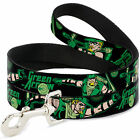 "Buckle-Down ""Green Arrow Action Poses/Targets Black/Greens"" Dog Leash, 6'"
