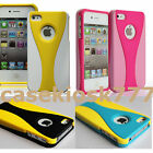 for iPhone 4 4s rubber ized case cover pink hot pink yellow blue white black/