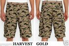 Levis mens Leaf Camo harvest gold lightweight cotton mix Cargo shorts 32 NEW