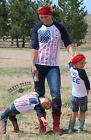 Crazy Train Clothing Girls Kids Live Free Baseball Tee Southwest Patriotic
