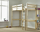 HEAVY DUTY Solid Pine HIGH SLEEPER Bunk Bed - 2ft 6 Small Single (EB13)