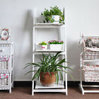 3&4 tiers Ladder Book Shelf Stand free Shelves Storage unit BLACK&WHITE&BROWN