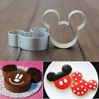 Mickey Mouse Face Fondant Baking Biscuit Cookie Cutter Metal Mold Set 1/2 pcs
