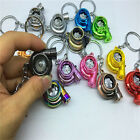 Creative LED TURBO Keyring Keyfob Key Chain Ring Spinning Fan Keychain Gifts