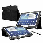 SLIM LEATHER WALLET STAND CASE COVER FOR SAMSUNG GALAXY TAB 3 10.1 INCH P5200
