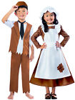 Girls Victorian Maid Costume Child History Fancy Dress Kids Book Week Day Outfit