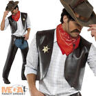 Village People Cowboy YMCA 80s Mens Fancy Dress 1980s Celebrity Costume Outfit