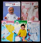 Various Baby's Knitting Patterns Jerseys Dresses Bonnets - Choose from Drop-down