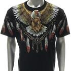 f16 Rock Chang T-shirt Tattoo Skull Glow in Dark LTD ED FULL HD Eagle Hawk Wings