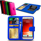 Clip On PU Leather Flip Wallet Book Case Cover For ZTE Grand X Plus Z826