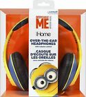 NEW iHome Despicable Me Minion Made Over-Ear Kids Headphones+Mic Ui.M40MN.FXv2