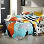 Quilt/Doona/Duvet Cover Set Pillowcases 100%New Cotton Checked Double Queen Size