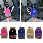 Women Girl Canvas Shoulder School Bags Backpack Travel Satchel Rucksack S0BZ