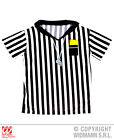 Mens Referee T-Shirt Top for Sport Fancy Dress Cosplay Outfit