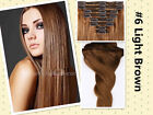Thicker Double Weft Clip In 100% Remy Human Hair Extensions Shows SFC8