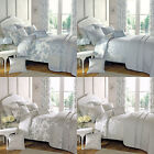 Dreams 'N' Drapes Malton Floral Toile Print Reversible Duvet Cover Set