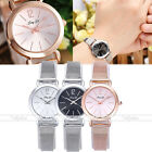 Elegant Ladies Simple Design Wristwatch Punk Alloy Band Small Size Quartz Watch