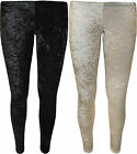 New Womens Velour Velvet Stretch Full Ankle Length Long Ladies Leggings 8-14