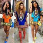 Women's African  Party Dress Dashiki ShirtKaftan Boho Hippe Gypsy Festival Tops