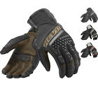 Rev It Sand 3 Motorcycle Gloves Biker Goatskin Leather Vented Short Cuff Touring