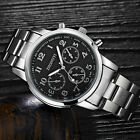 New Fashion Mens Watches Stainless Steel Mechanical Quartz Sport Men Wrist Watch