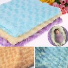New Hot Soft Newborn Baby Faux Fur Basket Blanket Photography Photo Prop S0BZ