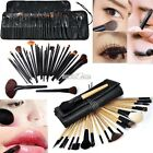 32/24pcs Pro Brushes Cosmetic Tool Makeup Eyeshadow Brush Set Kit + Case S0BZ