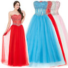 SALE! Womens Sexy Sequins Ball Gown Quinceanera Dress Long Evening Party Dresses