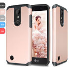 For LG Aristo/Fortune Slim Hybrid Armor ShockProof Rugged Protective Case Cover