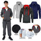 Mens Tracksuit Fleece Bottoms Trouser Jogging Hooded Top Joggers Gym Sweatshirt