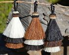 "3"" 3 Bell MuleTail Cut Horsehair Tassel - Various Colors"