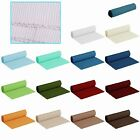 16 Color Choice - Machine Washable 100% COTTON Ribbed Table Runner 33 x 180cm