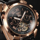 2 Color JARAGAR Automatic Tourbillon Mechanical Day Date Men's Army Sport Watch