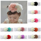 Pearl Flower Headband Lace Hair Band Headwear For Baby Girl Toddler New