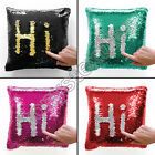 """SEQUIN MERMAID SPARKLE GLITTER 22"""" CUSHION COVER RED SILVER BLACK GOLD PINK BLUE"""