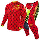 NEW 2016 TROY LEE DESIGNS GP AIR ANARCHY GEAR COMBO FLO RED/YELLOW ALL SIZES