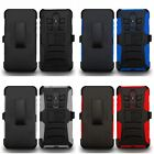 For ZTE Imperial Max / Max Duo 4G LTE Holster Belt Clip Hybrid Case Cover Armor