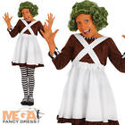 Oompa Loompa Girls Fancy Dress Willy Wonka World Book Day Kids Childs Costume