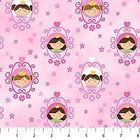 LITTLE PRINCESS CAMEOS PINK QUILT SEWING FABRIC *Free Oz Post