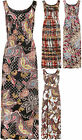 Plus Womens Long Paisley Print Sleeveless Belted Vest Ladies Maxi Dress 14-28