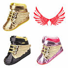 Fashion Infant Baby Boy&Girl Gold Fly Wing Sneaker Walking Soft Leather Shoes