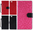 For Apple iPhone 5 5S SE ROSE Leather Wallet Case Pouch Flip Cover +Screen Guard