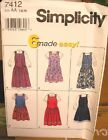 Simplicity 7538 Girls Dress Jacket Pants MANY SIZES OOP VINTAGE