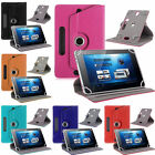 "360° Folio Leather Case Cover For Universal Android Tablet PC PDA 7"" 8"" 9"" 10"""